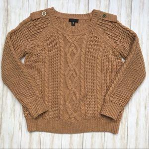 WORTHINGTON Chunky Sweater Tan/Brown Size Large